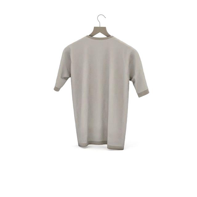946b8818934 T shirt on hanger 3d model 3ds max files free download - modeling ...