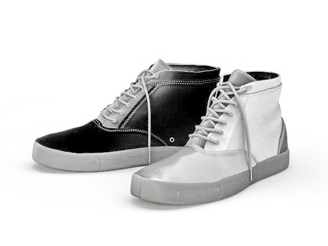 Canvas Sneakers 3d Model 3ds Max Files Free Download