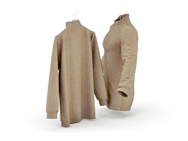 Stripes jackets 3d rendering