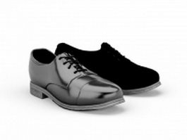 Black leather shoes 3d model