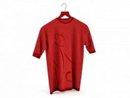 Red T shirt 3d model