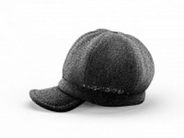 Peaked beanie hat 3d model