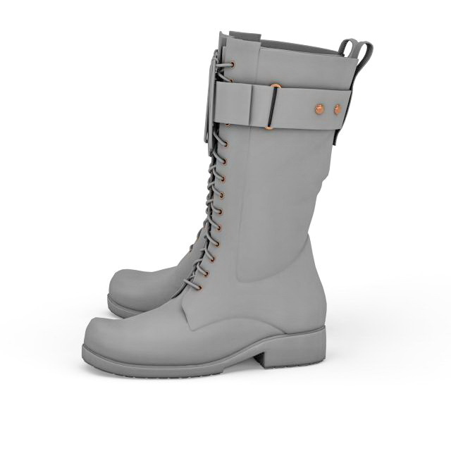 Combat boot 3d model 3ds max files free download - modeling 33136 ...