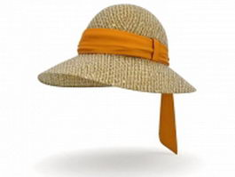 Ladies sun hat 3d model