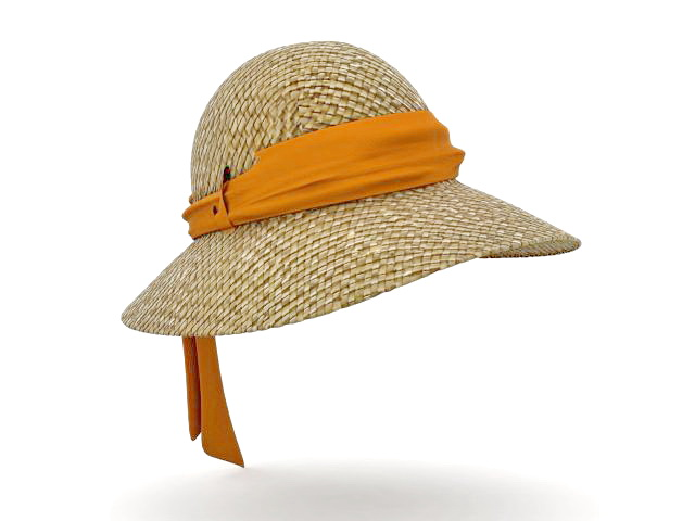 Ladies Sun Hat 3d Model 3ds Max Files Free Download