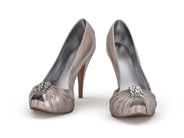 High heeled court shoes 3d rendering