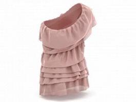 One shoulder dresses 3d model