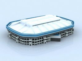 Stadium with roof 3d model
