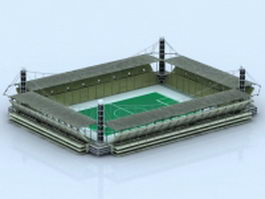 Football stadium building 3d model