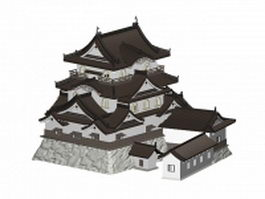 Hikone Castle 3d model