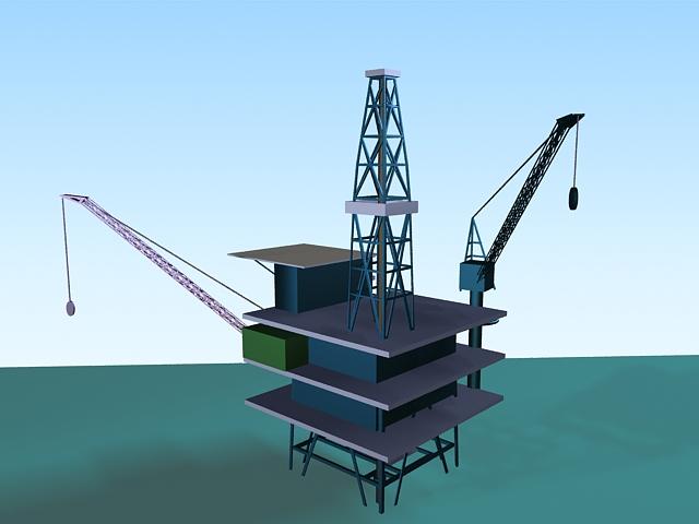 Offshore Oil Platform 3d Model 3ds Max Files Free Download