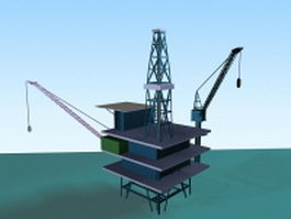 Offshore oil platform 3d model