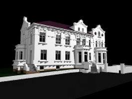 Mansion house 3d model