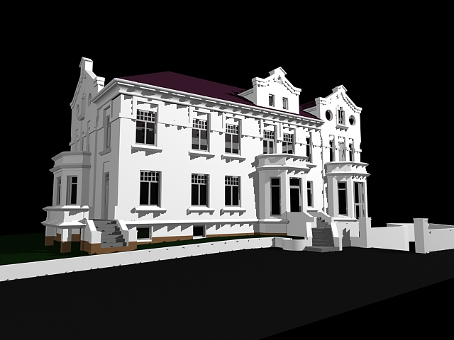 Mansion house 3d model 3ds max files free download for Free 3d house models