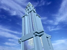 Art Deco Chrysler building 3d model