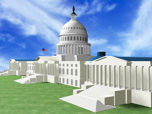 United States Capitol Building 3d Model 3ds Max Files Free