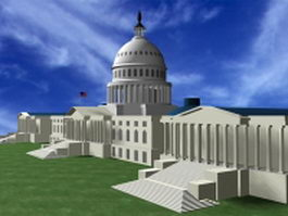 United States capitol building 3d model