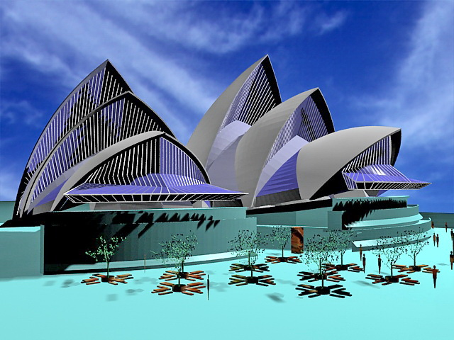 Sydney Opera House 3d Model 3ds Max Files Free Download