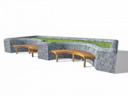 Street and park furniture 3d model