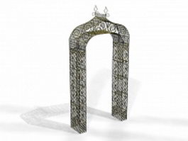Decorating garden arch 3d model