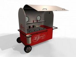 Ice cream vending cart 3d model