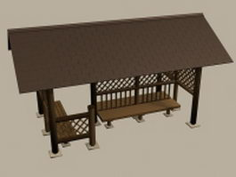Bus stop shelter design 3d model