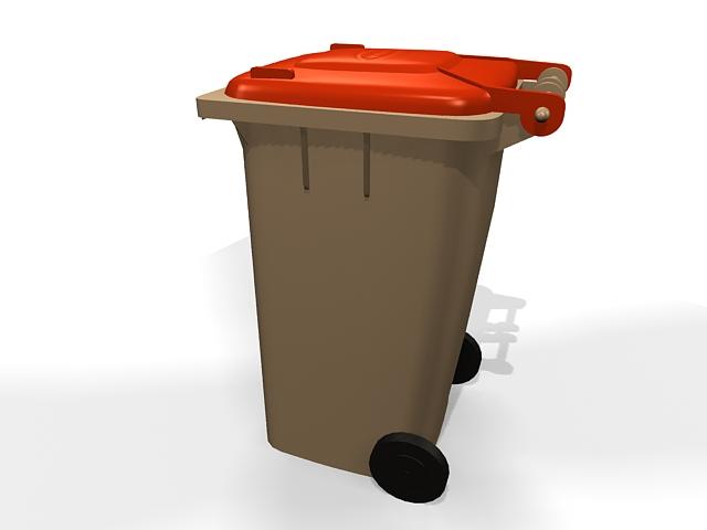 Wheelie Bin Waste Container 3d Model 3ds Max Files Free