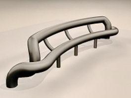 Steel tube bench 3d model