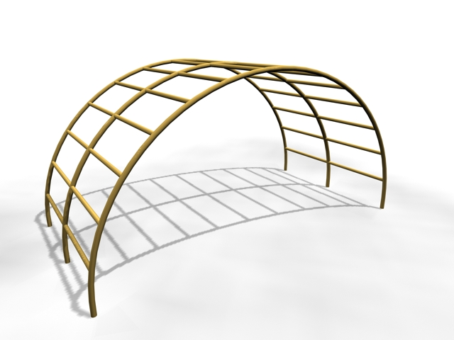 Garden arch design 3d rendering