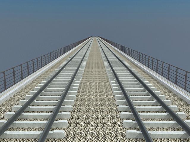 Double-track railway bridge 3d model 3ds max files free download