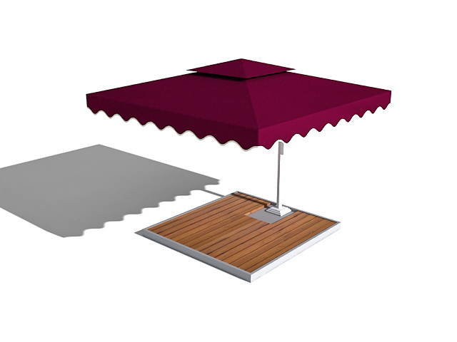 Patio umbrella 3d model 3ds max files free download - modeling 33217