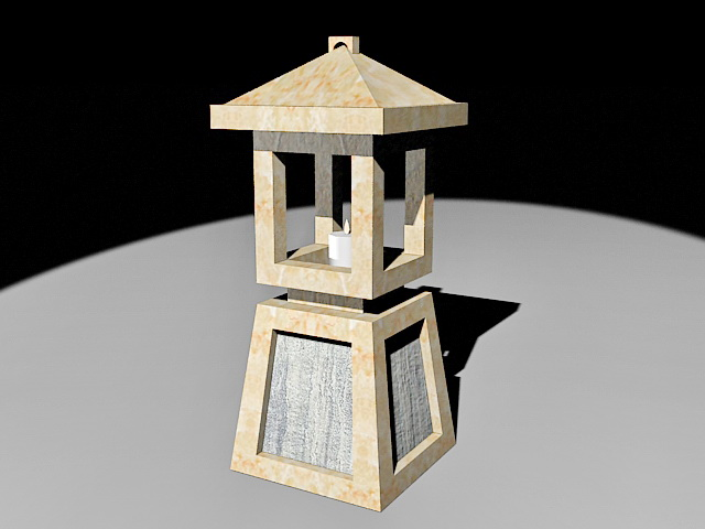 Japanese Garden Stone Lantern 3d Model 3ds Max Files Free