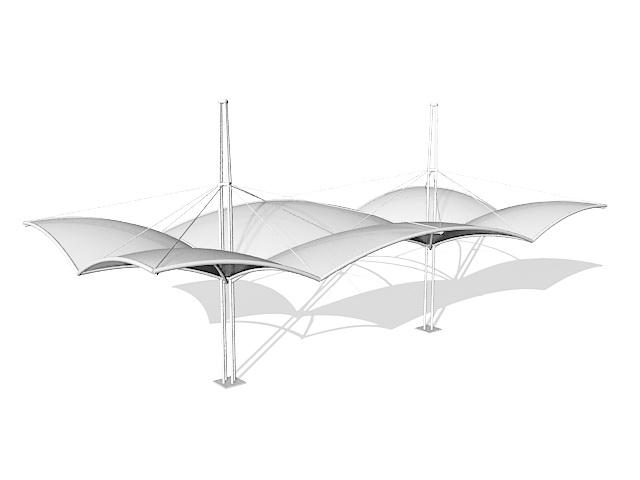 Tensile canopy structure 3d model  sc 1 st  CadNav & Tensile canopy structure 3d model 3ds max files free download ...