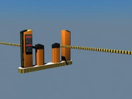 Parking lot gate system 3d model