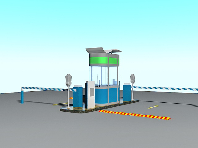 Parking Lot Gates Access Control 3d Model 3ds Max Files