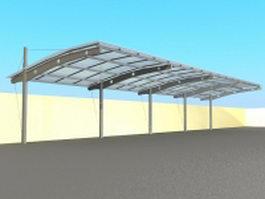 Building canopy structure 3d model