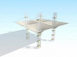 Tensile shade structures 3d model