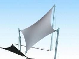 Tensile fabric canopy 3d model