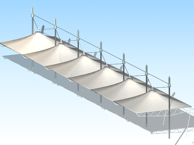 Tensile Membrane Structure 3d Model 3ds Max Files Free