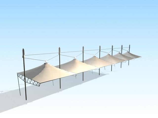 Tensile membrane structure 3d model - CadNav