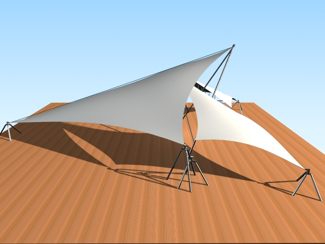 Tensile Fabric Structure 3d Model 3ds Max Files Free