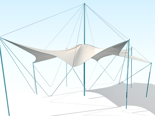 Tensile Canopy 3d Model 3ds Max Files Free Download