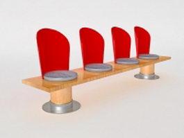 Unique bench 3d model