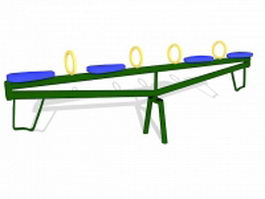 Playground seesaw equipment 3d model