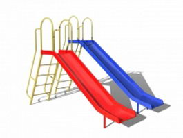 Playground equipment slides 3d model