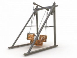 Traditional swing 3d model
