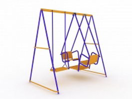 Metal swing set 3d model