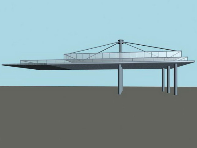 Landscape Plaza Canopy 3d Model 3ds Max Files Free Download