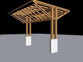 Outdoor pergola design 3d model