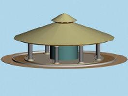 Round gazebo 3d model